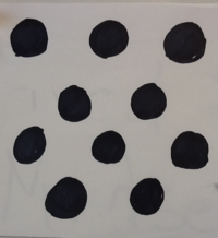 How many dots are on the card? How did you determine your answer?